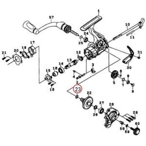 ダイワ(Daiwa) パーツ:レブロスMX 2004 ドライブギヤーOリング NO.0023 10J071 1000~2500番用その他パーツ