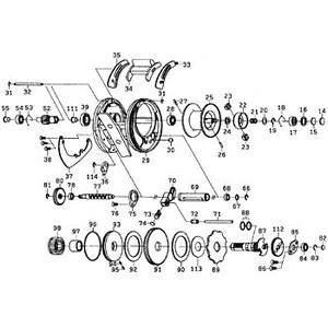 ダイワ(Daiwa) パーツ:RYOGA 1016HL スプールホルダーリティナー NO.019 10F007