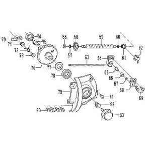ダイワ(Daiwa) パーツ:パワーサーフ5000QD ハンドルカラー NO.082 104001