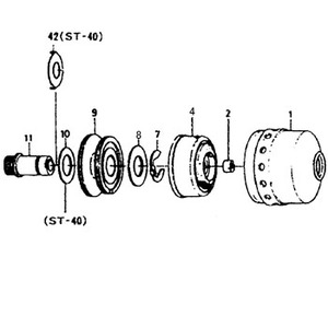 ダイワ(Daiwa) パーツ:スピンキヤスト ST-30 スプールリテイナー NO.007 182014