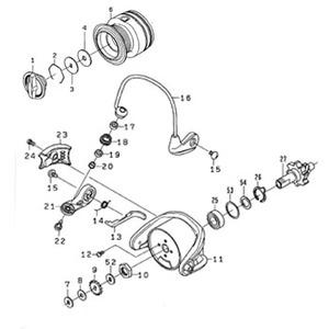 ダイワ(Daiwa) パーツ:ジョイナス2000 スプール(糸付) NO.006 128388 1000~2500番用スプールパーツ