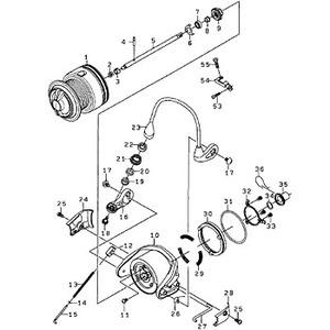 ダイワ(Daiwa) パーツ:インパルト アルファ2500LBD ブレーキプレートSC(A) NO.053 10A769