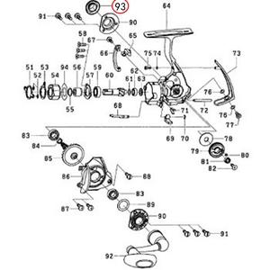 ダイワ(Daiwa) パーツ:EXIST ハイパーカスタム 2508 ハンドルキャップ NO.093 151140 1000~2500番用ハンドルパーツ