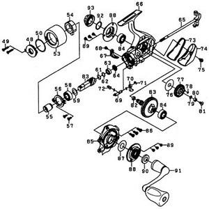 ダイワ(Daiwa) パーツ:10セルテート 2000 ハンドルキャップOリング NO.092 10J098 1000~2500番用ハンドルパーツ