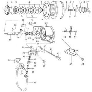 ダイワ(Daiwa) パーツ:ソルティガ Z6000GT スプールメタル(B) NO.017 132054