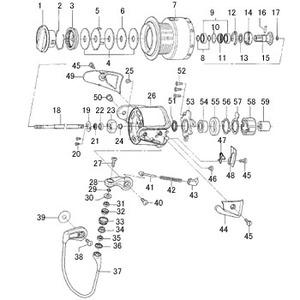 ダイワ(Daiwa) パーツ:ソルティガGAME3500 ドラグノブ NO.001 139514 投げ専用その他パーツ