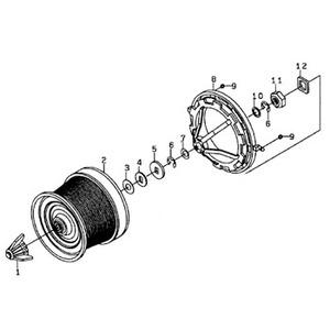 ダイワ(Daiwa) パーツ:10ファインサーフ35 細糸 スプールノブ NO.001 139588 投げ専用スプールパーツ
