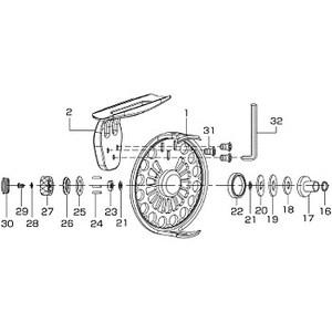 ダイワ(Daiwa) パーツ:BJ75D ドラグノブプレート NO.025 190823