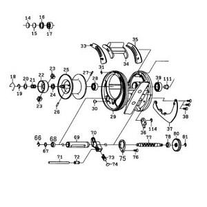 ダイワ(Daiwa) パーツ:RYOGA 2020H スプールホルダーW(B) NO.024 190468