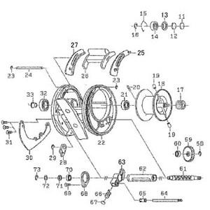ダイワ(Daiwa) パーツ:RYOGA BJ C1012PE-HWL ウォームシャフトギヤーリティナー NO.073 10F004