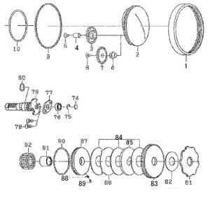 ダイワ(Daiwa) パーツ:RYOGA BJ C1012PE-HWL クラッチリング NO.091 110882
