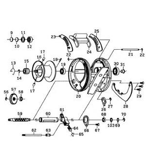 ダイワ(Daiwa) パーツ:RYOGA BJ C2020PE-H ウォームシャフトリティナー NO.056 10F014