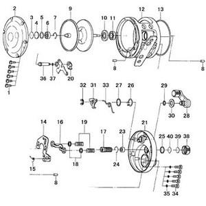 ダイワ(Daiwa) パーツ:ソルティガ Z30 メカニカルブレーキノブ NO.038 172093