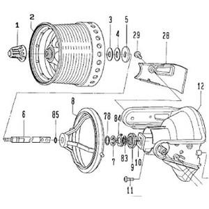 ダイワ(Daiwa) パーツ:グランドサーフ35V標準 メインシャフトW NO.005 190352