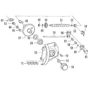 ダイワ(Daiwa) パーツ:グランドサーフ35V標準 ハンドルSC NO.074 152123