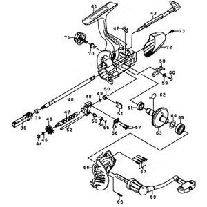 ダイワ(Daiwa) パーツ:ウインドサーフ35 細糸 ハンドル NO.069 1H2879 投げ専用ハンドルパーツ