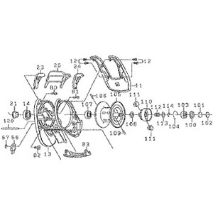 ダイワ(Daiwa) パーツ:Z2020SHL スプールホルダーSPリティナー NO.114 10F007