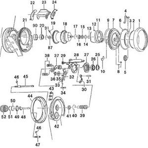 ダイワ(Daiwa) パーツ:ミリオネアHL-SSS凛牙 103L メカニカルブレーキノブ NO.052 172069 マグブレーキ用その他パーツ