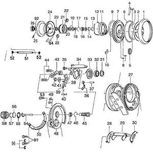ダイワ(Daiwa) パーツ:IZE ITOモノブロック100XRL スプールホルダーリティナー NO.018 10F007