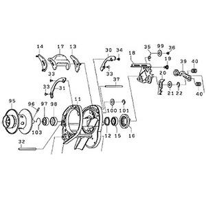 ダイワ(Daiwa) パーツ:TDジリオンPEスペシャル100H スプール(95-98) NO.095 129468