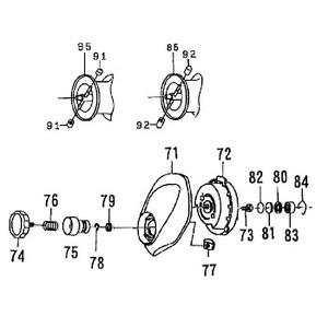 ダイワ(Daiwa) パーツ:PX68R SPR ブレーキダイヤルリティナー(B) NO.078 10F014
