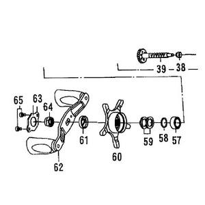 ダイワ(Daiwa) パーツ:PX68L SPR ハンドルボールベアリング NO.057 10E075