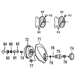 ダイワ(Daiwa) パーツ:PX68L SPR マグホルダーSC NO.073 10A426 遠心ブレーキ用その他パーツ