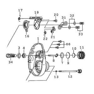 ダイワ(Daiwa) パーツ:スポルザ150R メカニカルブレーキノブ NO.011 172135