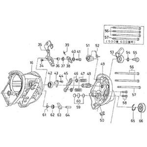 ダイワ(Daiwa) パーツ:スーパーダイナミック S400W RSスプールボールベアリング NO.042 10E101