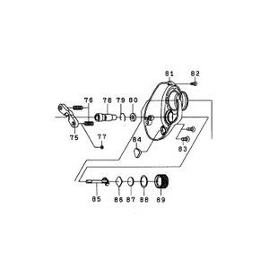 ダイワ(Daiwa) パーツ:スマックレッドチューン100HR RSプレートSC(A) NO.082 10A731