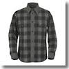 ウォッシャブルウールオンブレーチェックシャツ Men's L 020 グレー