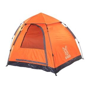 【送料無料】D.O.D(ドッペルギャンガーアウトドア) T5-31 ワンタッチテント 5人用(大人3人/子供2人)簡単設営 フラッシュオレンジ