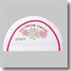 2色カラーステッチメッシュキャップ L 01A(ホワイト×ゴールドラメ×蛍光ピンク)