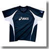 ウォームアップシャツHS Men's XO 5001(ネイビー×ホワイト)