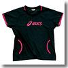 XWW700 ウォームアップシャツHS Women's L 9017(ブラック×ベリーピンク)