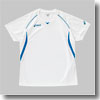 XW6183 プラシャツHS Women's XF 0147(ホワイト×アクア)