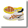 アシックス(asics) SKYSENSOR(R) NEO 2-WIDE 25.5cm 0109(ホワイト×メタルオレンジ)