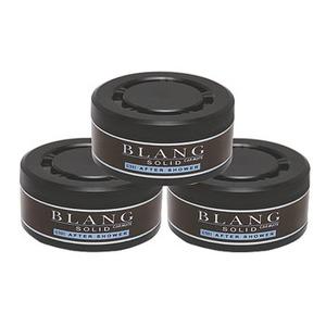 カーメイト(CAR MATE) 固形芳香消臭剤 ブラングソリッド詰替 お得な3個セット アフターシャワー ブラック G301T