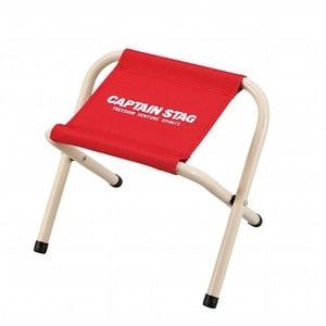 キャプテンスタッグ(CAPTAIN STAG) パレット スツール ミニチェア/腰かけ/椅子/キャンプ/レジャー用 ミニ レッド M-3930