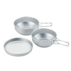 ユニフレーム(UNIFLAME) アルミ食器 ケースセット3 667910 テーブルウェアセット