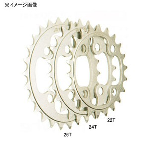TIOGA(タイオガ) チェーンリング(4アーム用) 22T シルバー CKR03700