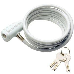 GIZA PRODUCTS(ギザプロダクツ) WL147 ワイヤーロック 1800mm ホワイト LKW17101