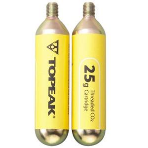 【クリックで詳細表示】topeak(トピーク)25g ネジ付 25g CO2 カートリッジ 2本セット