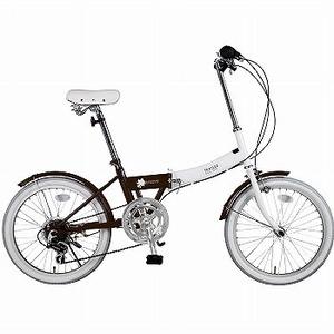 【送料無料】阪和 20インチ カラフル折りたたみ自転車 6段変速 TRAILER【代引不可】 20インチ ブラウン BGC-N10-BR