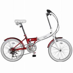 【送料無料】阪和 20インチ カラフル折りたたみ自転車 6段変速 TRAILER【代引不可】 20インチ レッド BGC-N10-RD