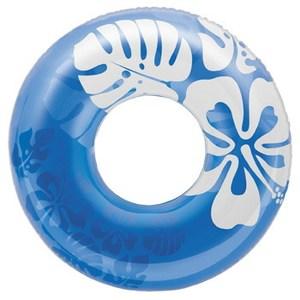クリアカラーチューブ 浮き輪 91cm 91cm ブルー