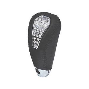 カーメイト(CAR MATE) クリスタルゲートATノブ 本革巻き ブラック LS141