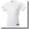 エスエスケイ(SSK) V首ベースボールTシャツ(無地) XO 10(ホワイト) SSK-BT2230