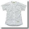 エスエスケイ(SSK) Webleague/ストライプメッシュシャツ 2XO 1090(ホワイト×ブラック) SSK-US002M