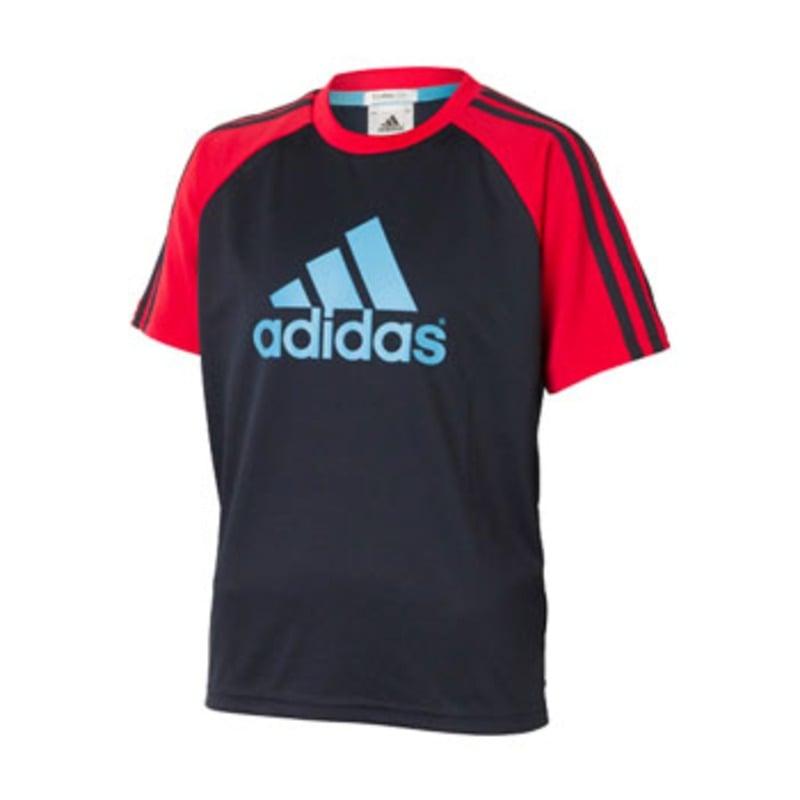 adidas(アディダス) BC CL SS Tee1 Kid's 140 X42031(ネイビー×レイディアントレッド) SS809